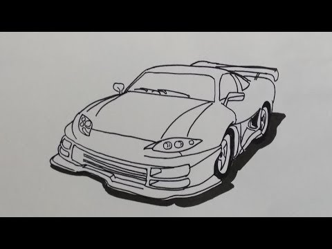 Cara Menggambar Mobil Sport How To Draw A Sports Car Youtube