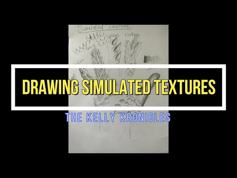 How to Draw Simulated Textures!