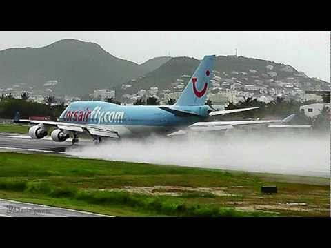 Corsairfly / Boeing 747 WET Takeoff at Princess Juliana Int'l (HD1080p)