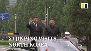 north-korea-stages-huge-welcome-for-visiting-chinese-leader-xi-jinping