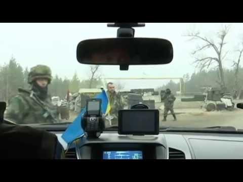Ukrainian 'Stalingrad': Ukrainian soldiers near Luhansk man the 'Stalingrad' checkpoint