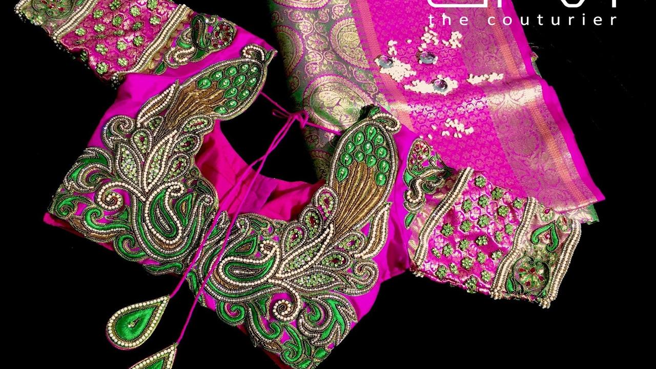 Latest Heavy Work Pattu Saree Blouse With Price Wedding Bridal