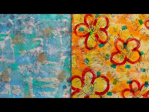 Mixed-Media Fun Fabric with Barb - HowToGetCreative.com