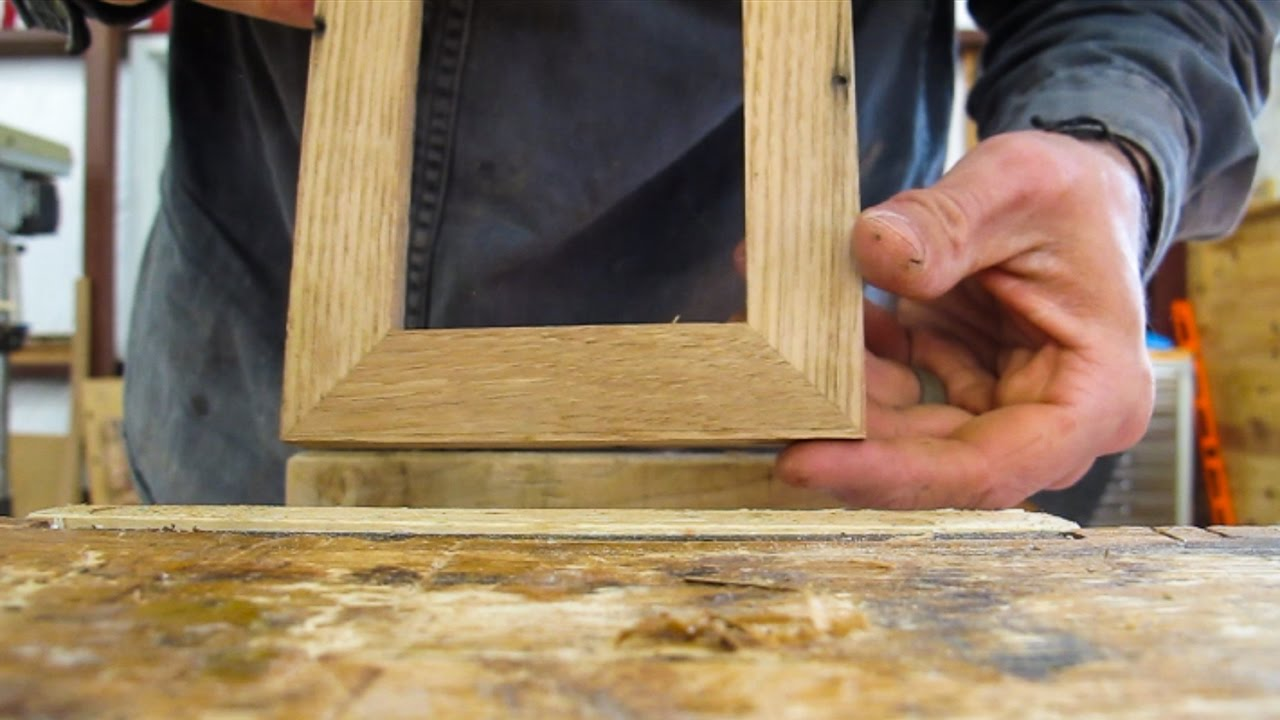 Making A Simple Mitered Picture Frame No Clampsno Miter Saw