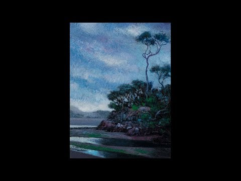 Tides Out 6×8 Tonalist Landscape Oil Painting Demonstration