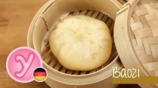 Gedämpfte asiatische BAOZI - gefüllt mit leckerer Fleischfüllung in BBQsoße