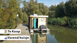 Te Koop! Een blokhut-boot in Dordrecht!