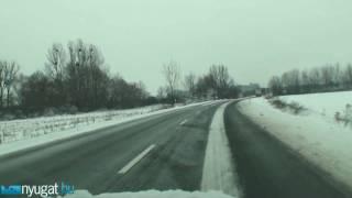 Téli útviszonyok - Vasi főutak (86-os, 84-es, 88-as)