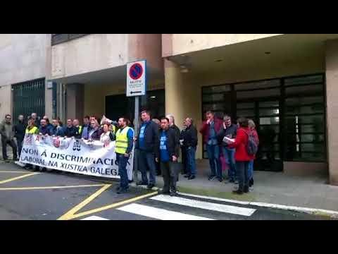 O funcionariado de Xustiza volve manifestarse en Viveiro