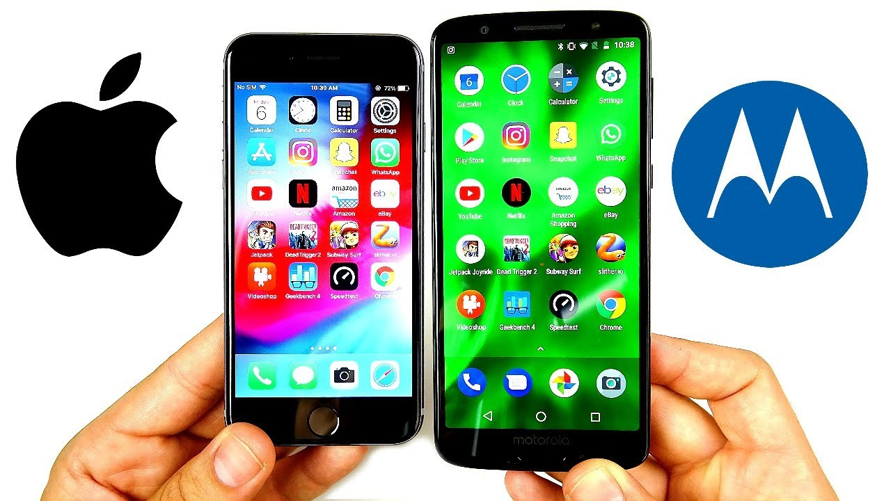 iPhone 6 vs Moto G6 Speed Test! Video