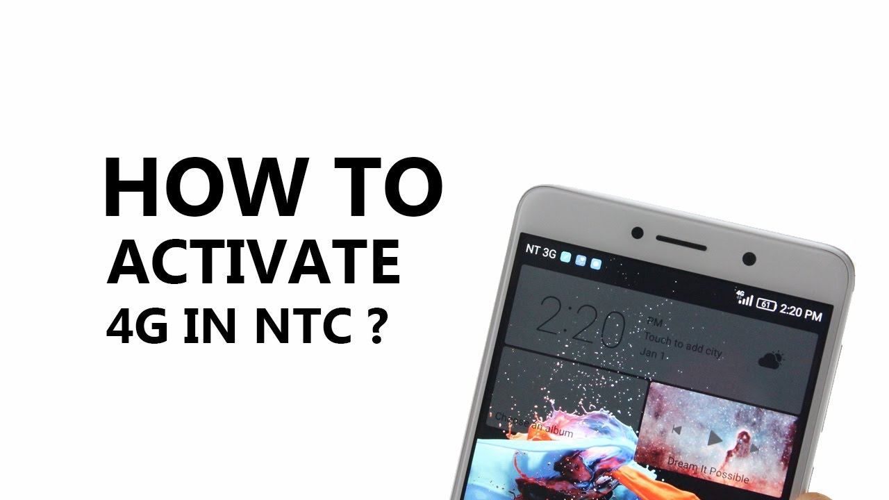 How to activate 4G in NTC (Nepal)