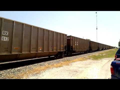 NB - UP Empty Coal Unit Train with DPU, Kyle, TX, 7 August 2013