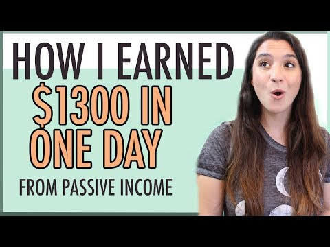 MAKE MONEY BLOGGING â—� HOW I EARNED $1,300 IN ONE DAY â—� PASSIVE INCOME