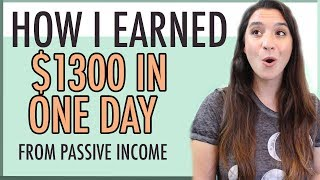 Looking for some passive income ideas or how to earn money online? i made $1,300 in one day while was moving my family into our new home. it the very d...