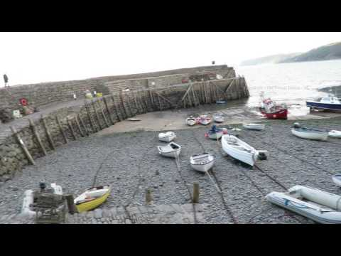 Going down to Clovelly Harbour  in Devon England