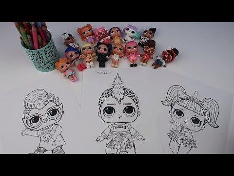 LOL 4 Kalem Boyama Challenge! 4 MARKER CHALLENGE With LOL Surprise Wave 2 Baby Dolls Bidünya Oyuncak