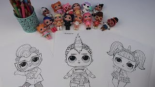 LOL 4 Kalem Boyama Challenge! 4 MARKER CHALLENGE With LOL Surprise Wave 2 Baby Dolls Bidünya Oyuncak