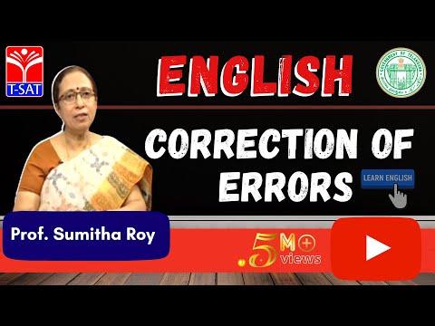 GURUKULAM ||  English -  Correction of Errors  ||  LIVE INTERACTIVE SESSION With Sumitha Roy