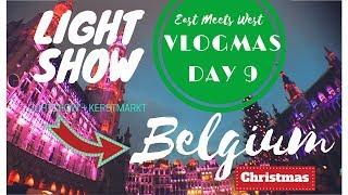 🎄 VLOGMAS Day 9️⃣ | BONGGANG WERPA LIGHTSHOW! | BELGIUM 🇧🇪 | Jeroen & Kyn