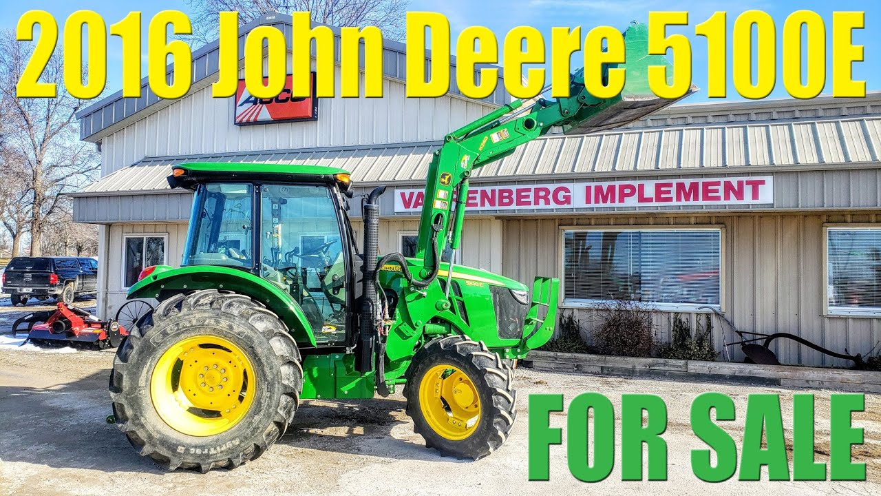 Download SOLD! 2016 John Deere 5100E Utility Tractor (100 Engine/ 85 PTO HP)