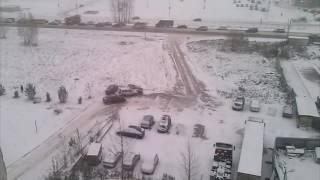 Первый снег всегда неожиданный