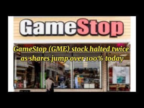 GameStop (GME) stock halted twice as shares jump over 100% today