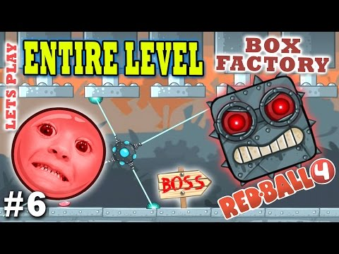Chase & Dad play RED BALL 4! BOX FACTORY ENTIRE LEVEL w/ BOS