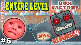 Chase & Dad jouer à RED BALL 4! BOX FACTORY ENTIRE LEVEL w / BOSS! (LA FIN Partie 6 Gameplay)