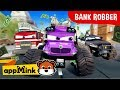 appMink | Kids Cartoon Car Chase - Police Car, Fire Truck, Garbage Truck & Bus! | Cars Kids Videos