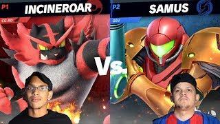 GB.RD (Incineroar) VS. GBV (Samus) - SUPER SMASH BROS ULTIMATE