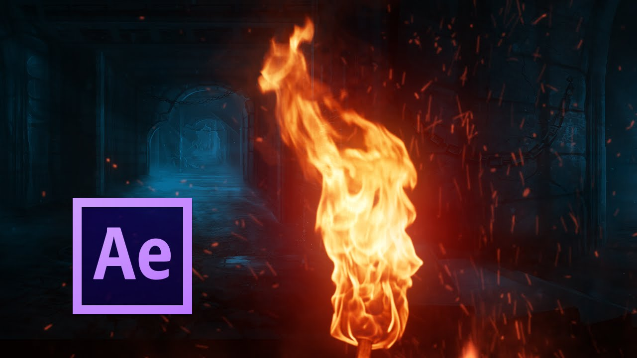 realistic fire simulation after