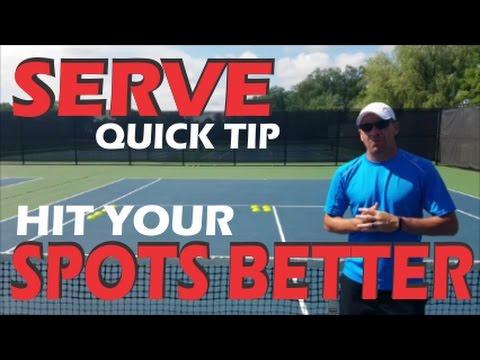 ONLINE SERVE  VIDEO TENNIS TIP | HIT your SERVING spots BETTER