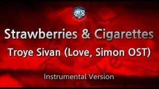 Troye Sivan-Strawberries & Cigarettes (Love, Simon OST)(-1key)(MR)(Karaoke Version) [ZZang KARAOKE]