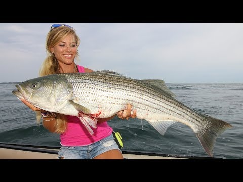 Most INSANE GIANT Striped Bass Fishing! (Montauk, New York)