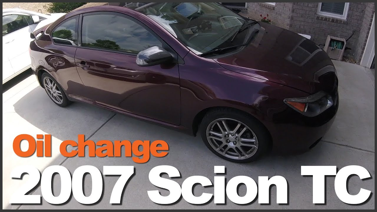 small resolution of how to change oil 2007 scion tc