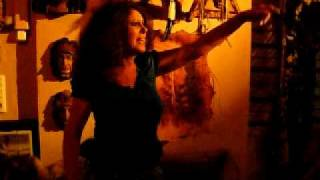 sexy supermodel patsy d goes crazy to the stones in calpe texas bar spain