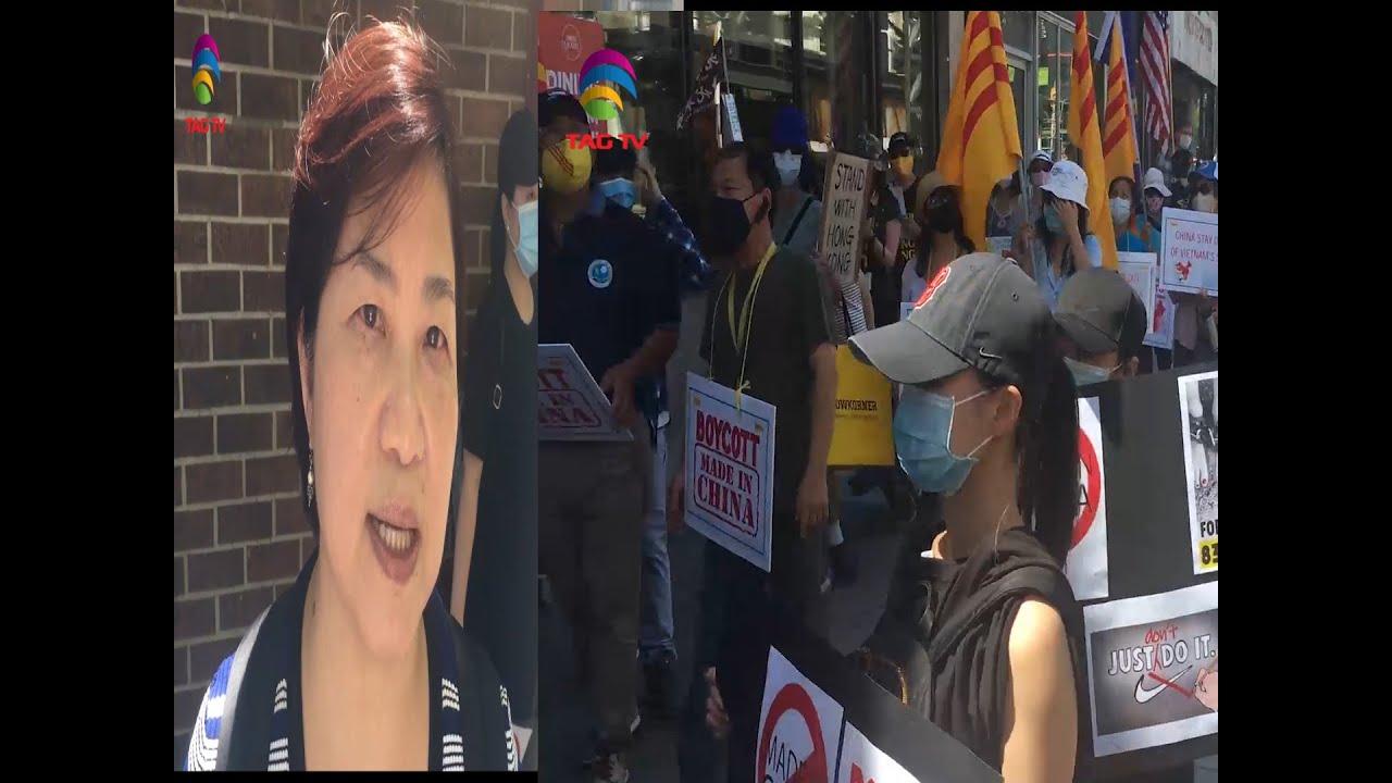 """""""Modi, Modi, Modi"""" Protesters chant in Downton Toronto Protest against China- @TAG TVSpecial Report"""