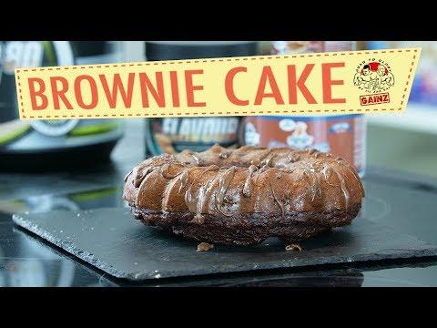 Fitness Rezept - Protein Brownie Kuchen OHNE Mehl