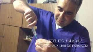 Aplicacion de inyecciones. INSTITUTO TALADRIZ - Dr. Sergio TALADRIZ - Incluye cuestionario gratis thumbnail