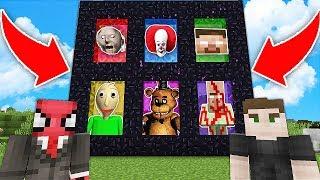 ÖRÜMCEK ADAM KORKU PORTALLARI BULDU HANGİSİNİ SEÇECEK? - Minecraft