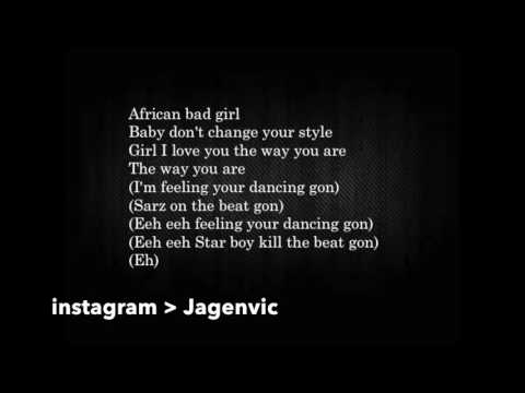 WizKid ft Chris Brown African Bad Girl Official lyrics