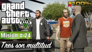 "Grand Theft Auto 5 - Misión #24 ""Tres son multitud"" ( Medalla de oro )"