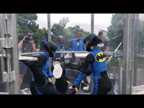 The Dark Knight Dive VR skydiving at The Batman Experience SDCC 2019