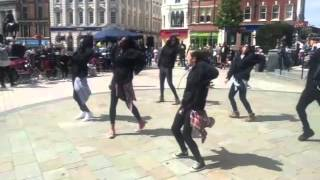 Catch 22 flash mob in Wolverhampton city centre
