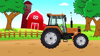 #Purple Tractor, Orange Tractor, Yellow combine harvester - Construction | Fioletowy Traktor