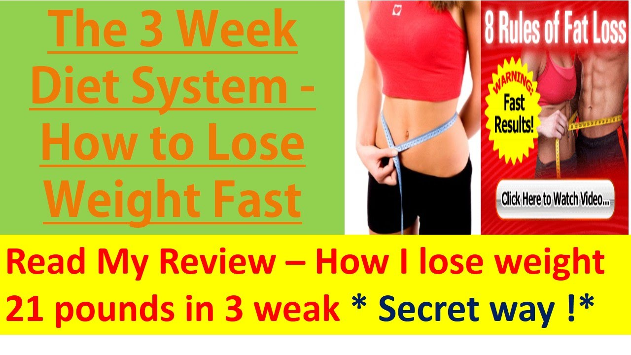 🎁[Free PDF 39 MB] The 3 Week Diet Review from The Real Customer 2019