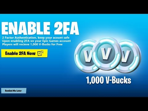 How To Redeem FREE 1,000 V-BUCKS In Fortnite (2FA Rewards)