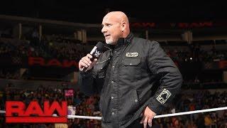 Goldberg kehrt zurück und hat eine Botschaft für Brock Lesnar: Raw, 17. Oktober 2016