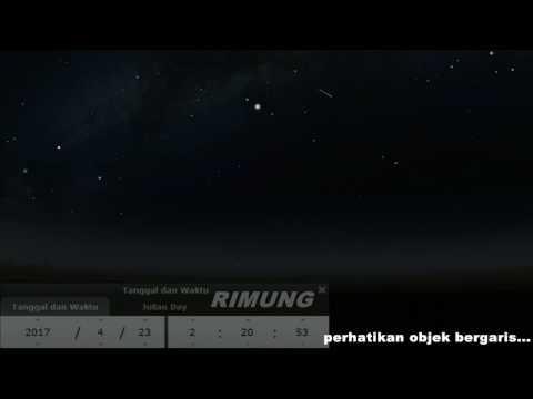 Hujan Meteor Lyrid Bulan April Lokasi Aceh Indonesia