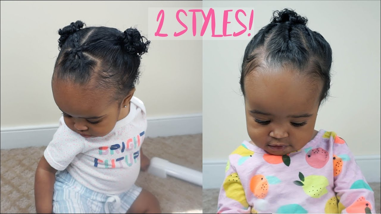 2 cute and easy hairstyles for baby girls | zara's 1st birthday special part 1